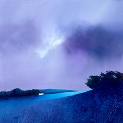 Blue Top Mountain by Barry Hilton -  sized 28x28 inches. Available from Whitewall Galleries